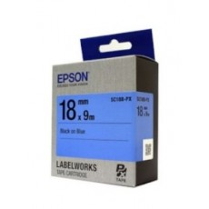 [EPSON] SC18B-PX 라벨테이프 바탕(파랑)/글씨(검정) 18mm