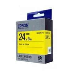 [EPSON] SC24Y-PX 라벨테이프 바탕(노랑)/글씨(검정) 24mm