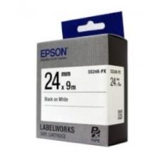 [EPSON] SS24K-PX 라벨테이프 바탕(흰색)/글씨(검정) 24mm