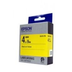 [EPSON] SC4Y-PX 라벨테이프 바탕(노랑)/글씨(검정) 4mm