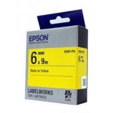 [EPSON] SC6Y-PX 라벨테이프 바탕(노랑)/글씨(검정) 6mm