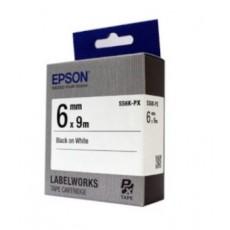 [EPSON] SS6K-PX 라벨테이프 바탕(흰색)/글씨(검정) 6mm