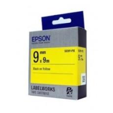 [EPSON] SC9Y-PX 라벨테이프 바탕(노랑)/글씨(검정) 9mm