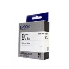 [EPSON] SS9K-PX 라벨테이프 바탕(흰색)/글씨(검정) 9mm
