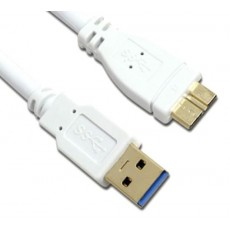 [MachLink] 마하링크 USB 3.0 케이블 [AM-Micro B] 0.3M [화이트/ML-UMB003]